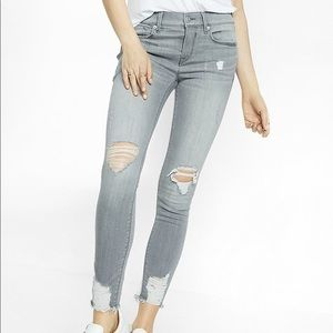 Express Ankle Skinny Mid Rise Jeans Size 0